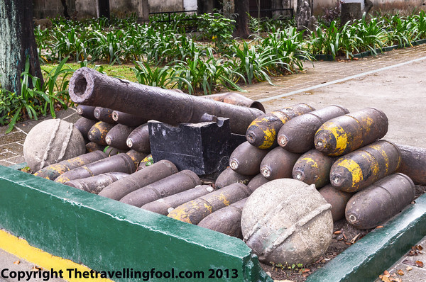 Cannon and shells from throughout the years