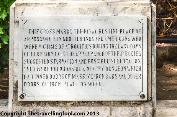 Inscription on cross