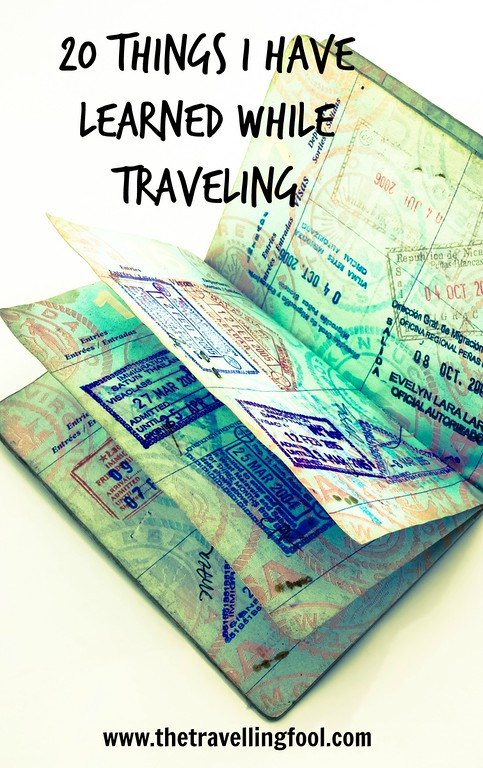 20 Things I learned While Traveling