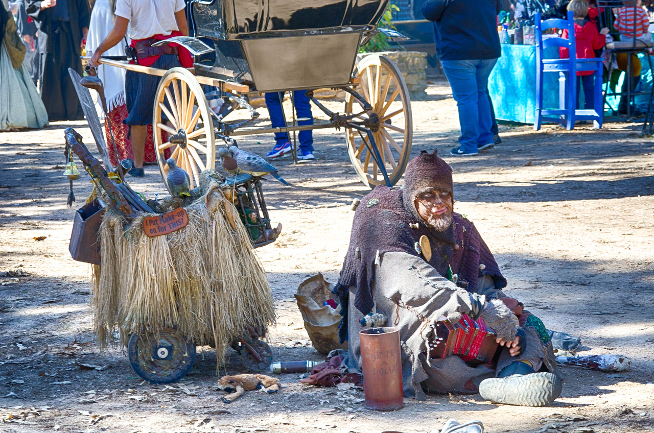 Renaissance Festival Beggar