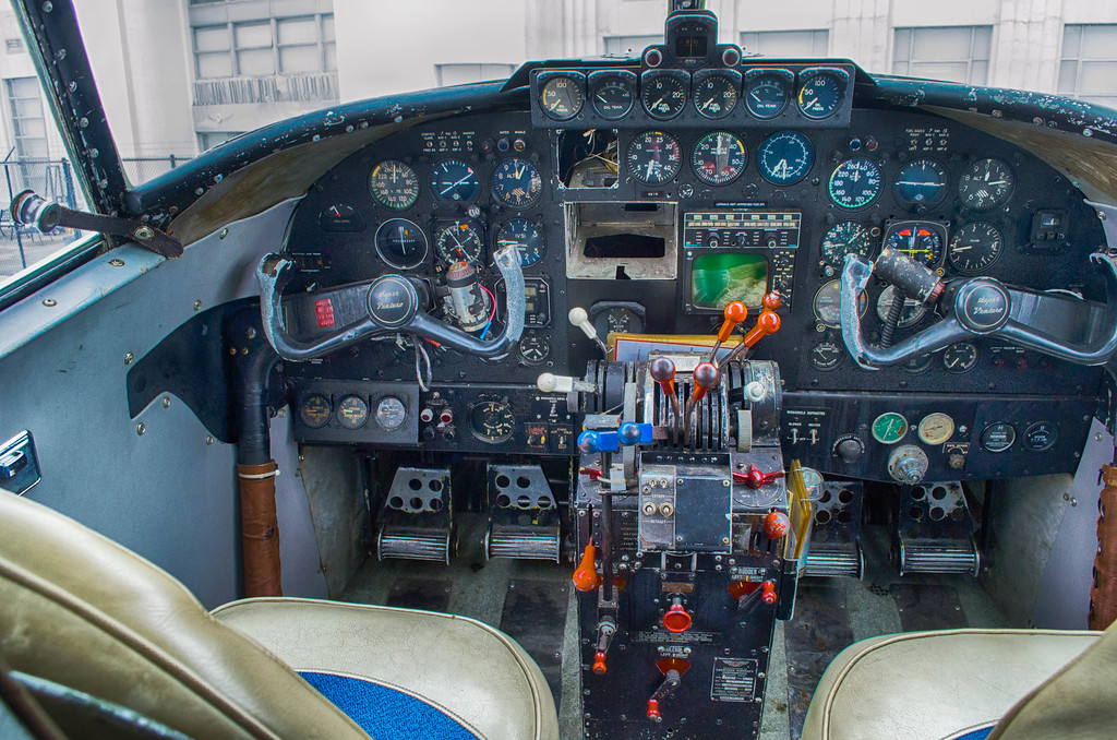 cockpit of Lockheed Lodestar Air Terminal Museum
