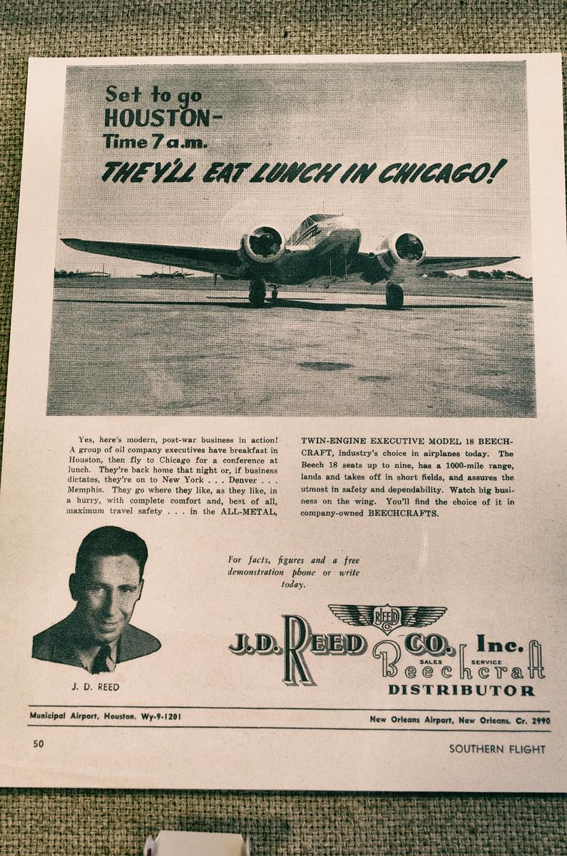 JD Reed Poster Air Terminal Museum