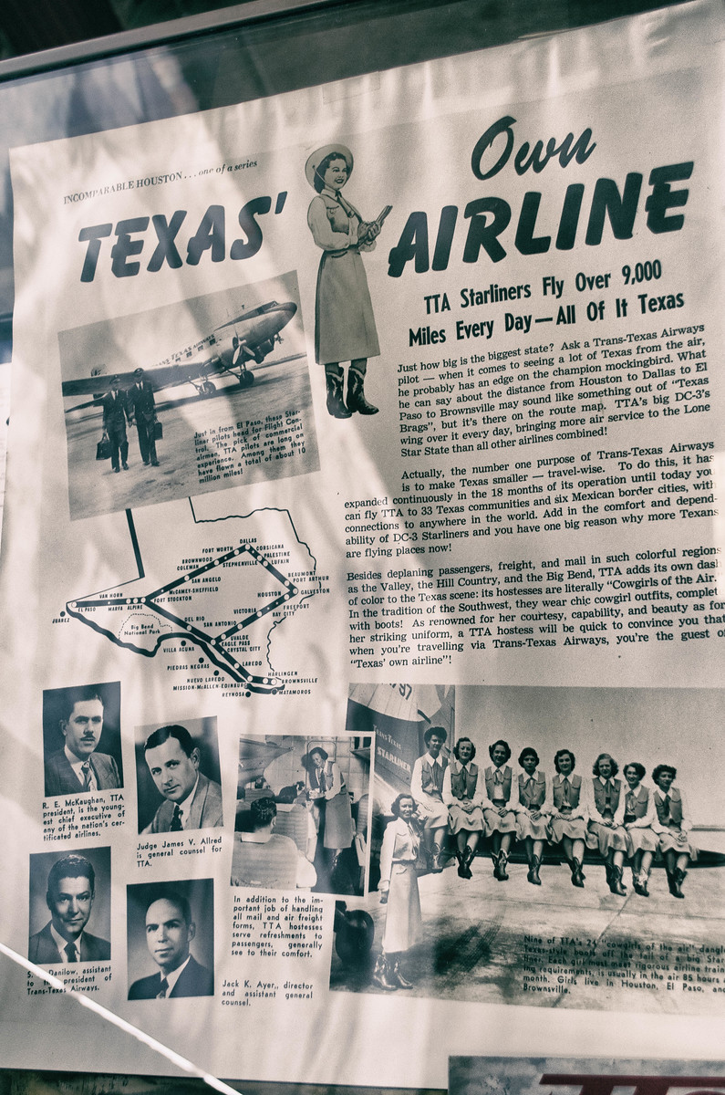 Trans Texas Airlines Poster Air Terminal Museum