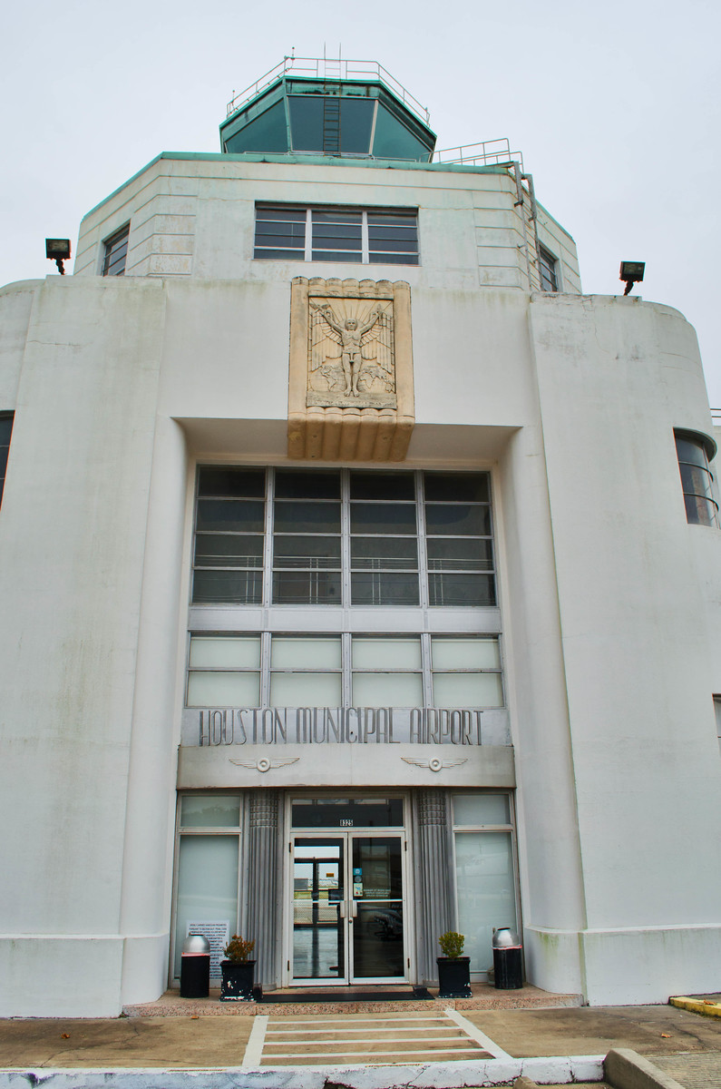 Entrance to 1940's Air Terminal Museum, Houston Texas