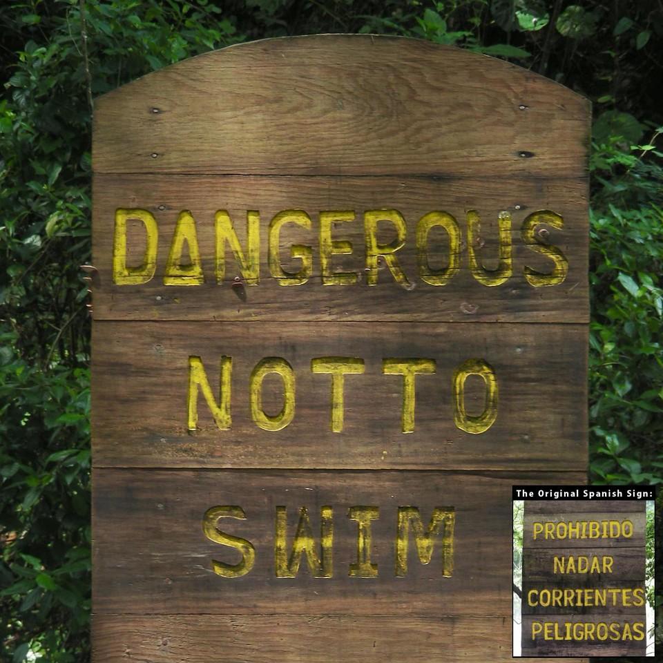 no swimming?
