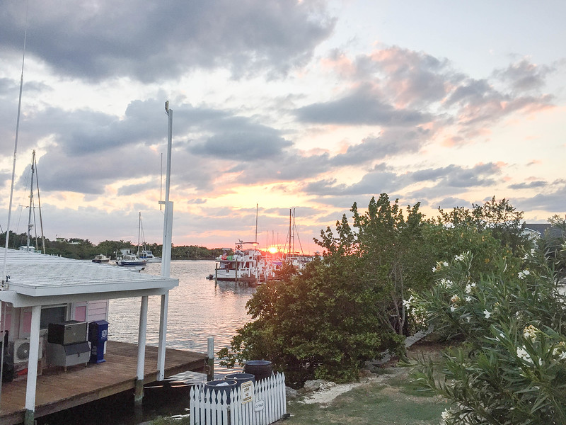 Sunset at the Leeward Yacht Club, Bahamas