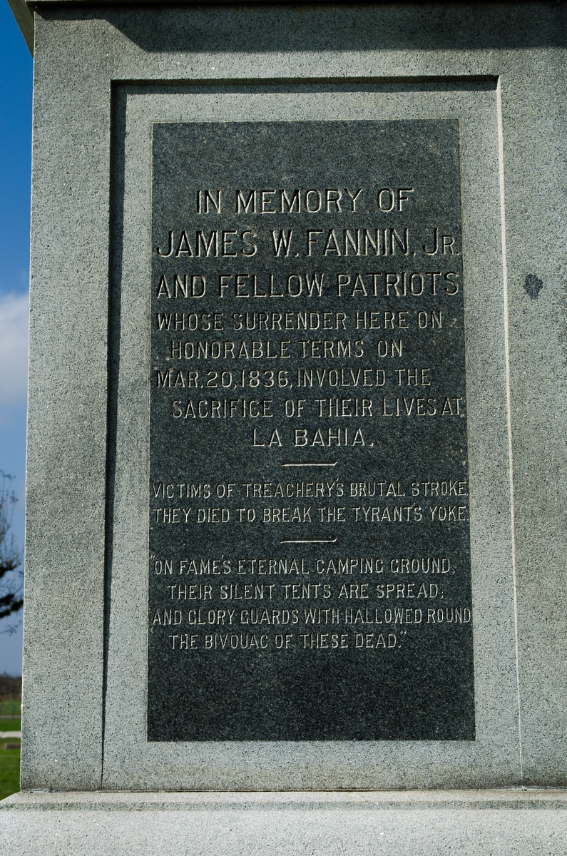 Fannin Battle Monument