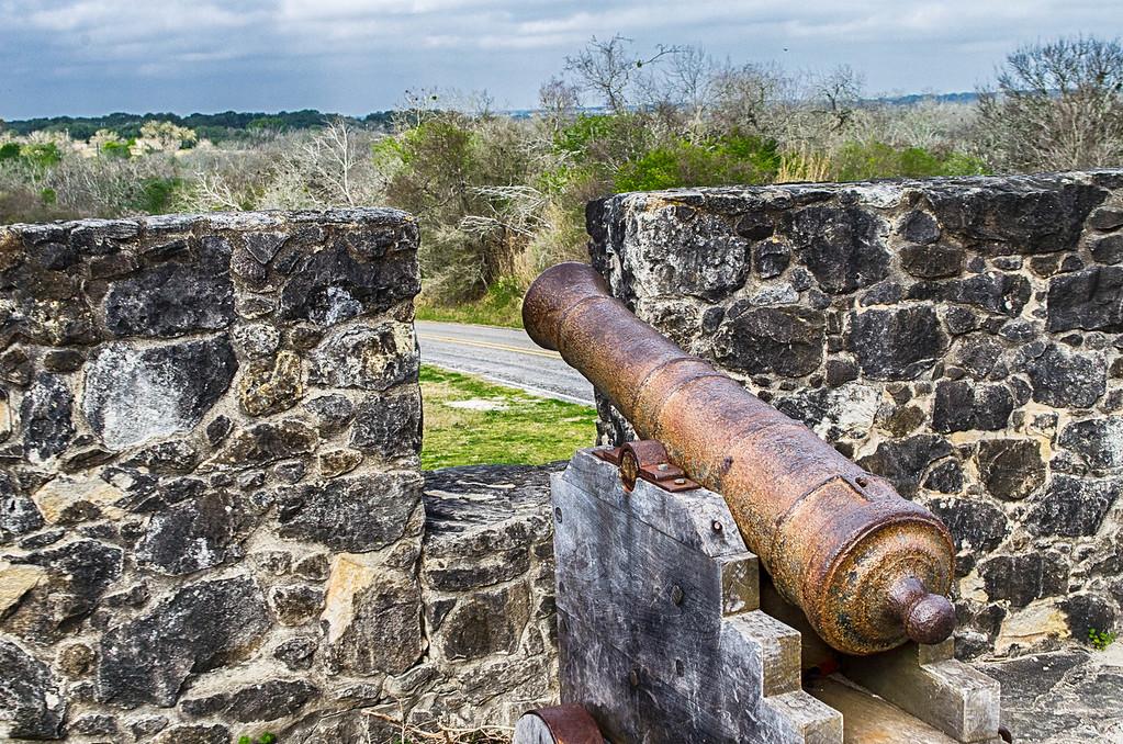 Cannon at Presidio La Bahia Goliad Texas