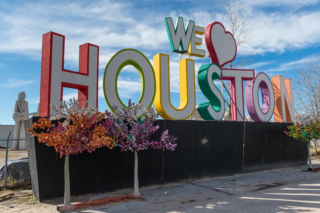 Love Houston Sign