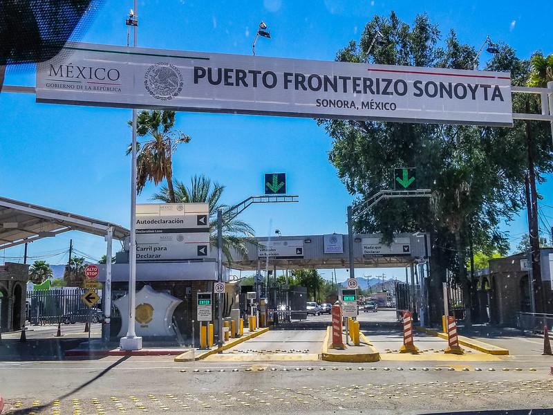 Mexico Border Crossing Lukeville Arizona