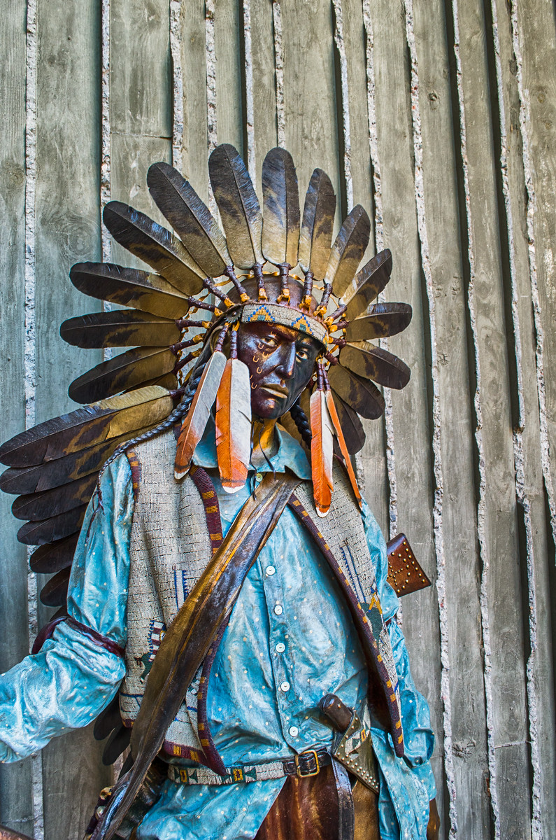 Chief American Horse Broze, Old West, Museum of the west, Scottsdale Arizona