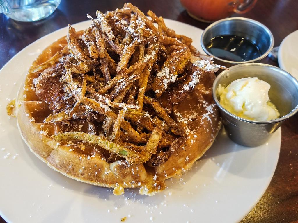Chicken and Waffles, Hash Kitchen Scottsdale Arizona