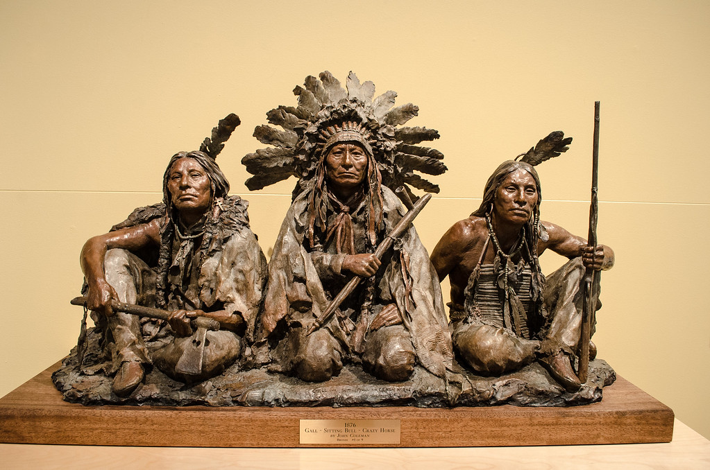 Bronze Gall, Sitting Bull, Crazy Horse, Old West, Museum of the West