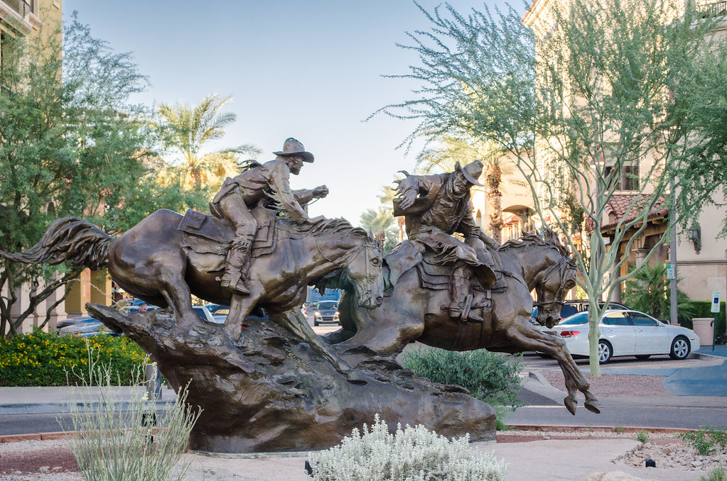 Passing the Legacy bronze Statue Scottsdale Arizona