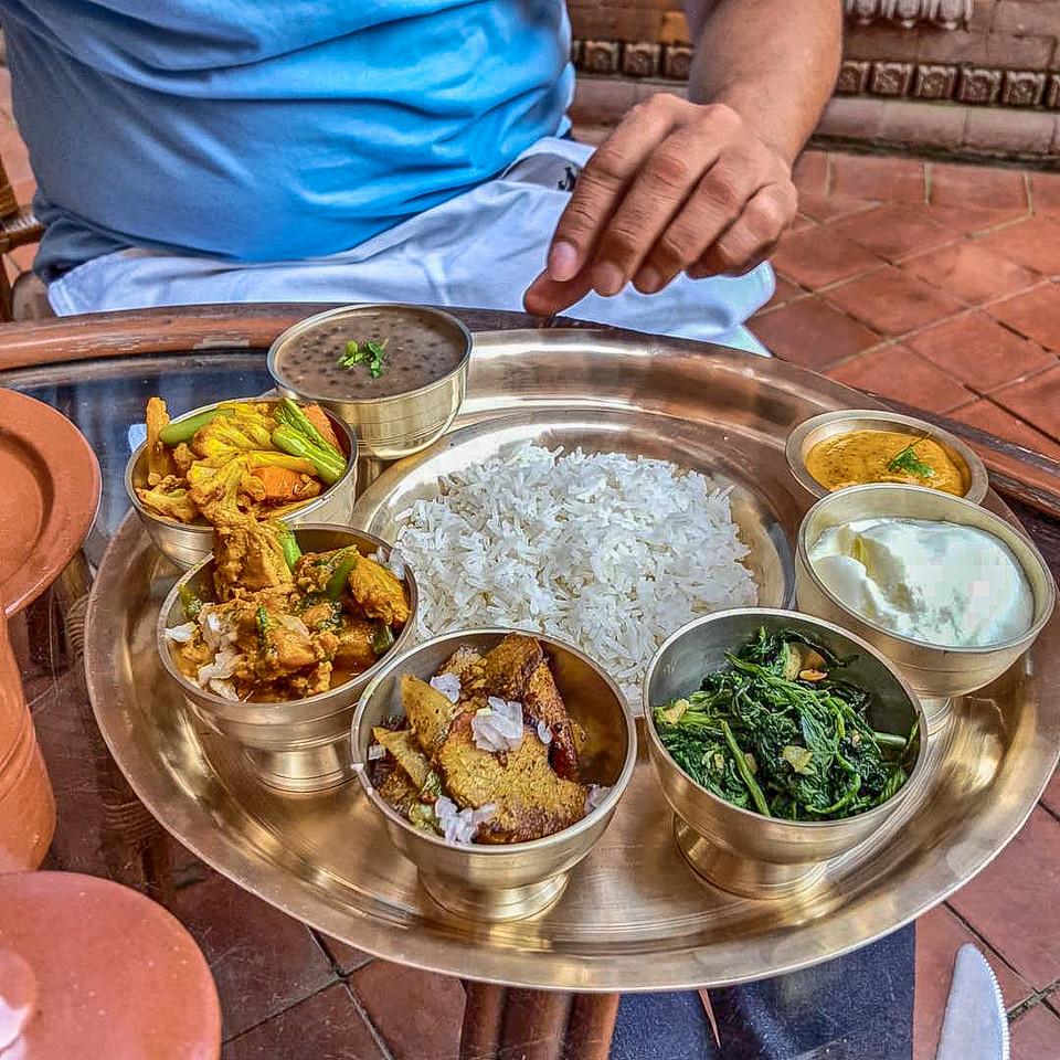 Nepali food, dal-bhat-tarkari