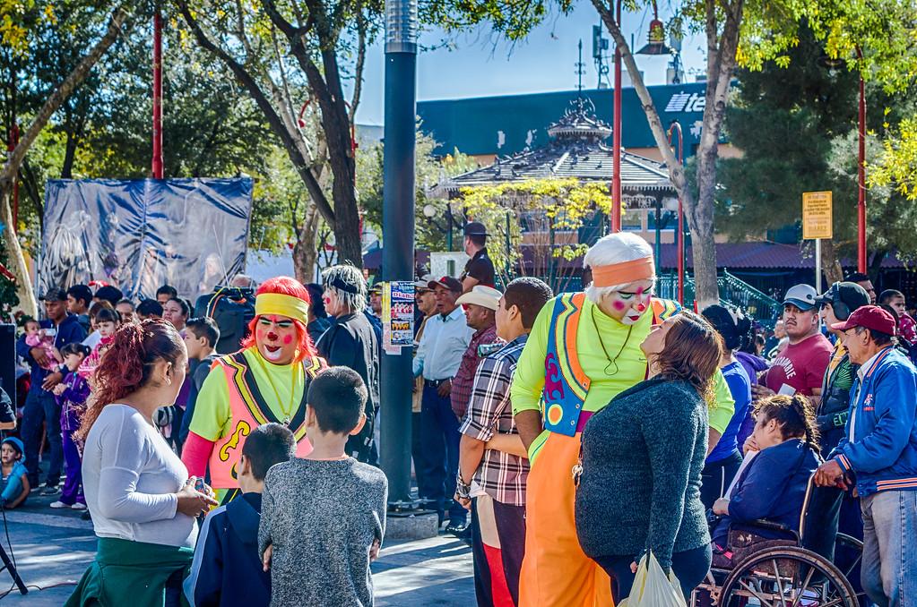 clowns in Juarez Mexico