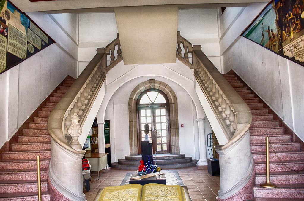 grand staircase inside old city hall Juarez Mexico