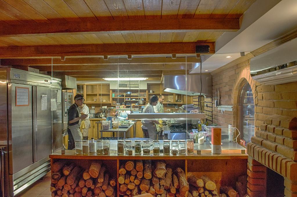 kitchen at Hacienda Flor Nogal, Juarez Mexico