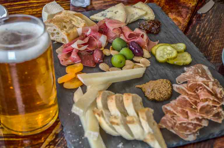 pink house cheese and charcuterie platter-