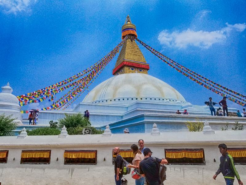 Bauddhanath Stupa in Kathmandu Nepal