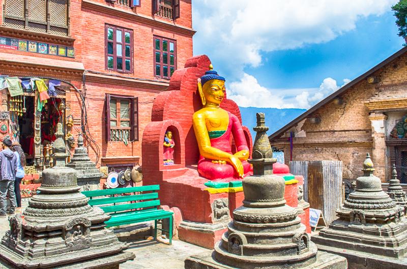 Buddha Statue Swaymbhunath Stupa Kathmandu Nepal