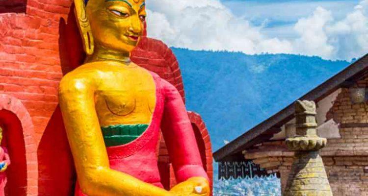 Buddha Statue at Swaymbhunath Stupa-