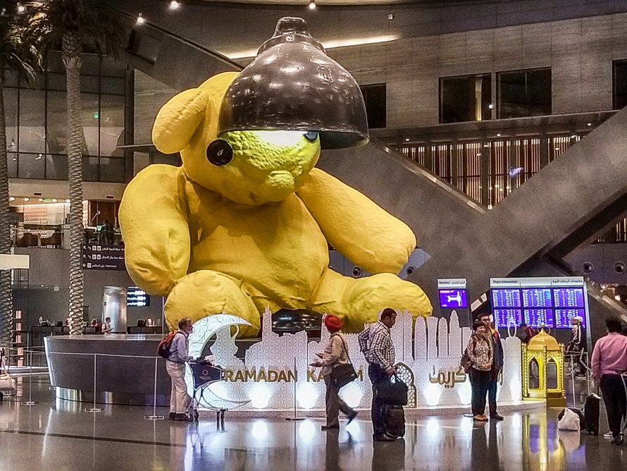 Doha Airport Teddy Bear
