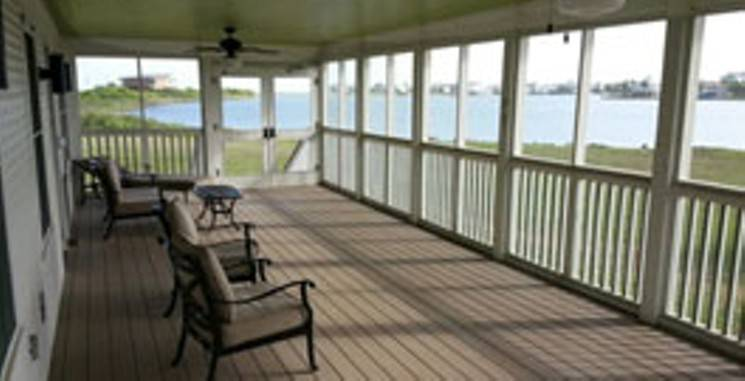 Galveston State park Cabin Porch
