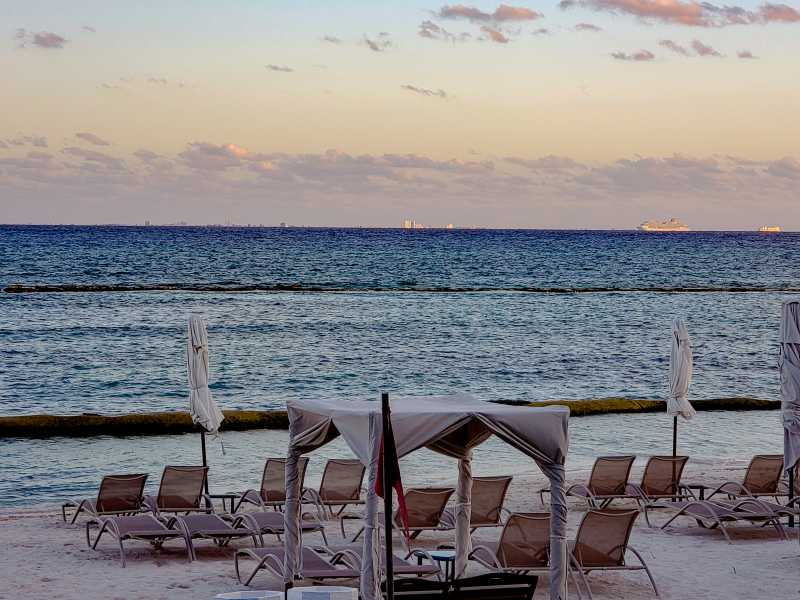Grand Velas Riviera Maya Sunset on the beach