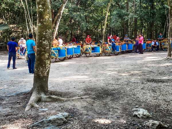 Taxis at Coba Mayan Ruins
