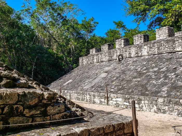 Ball Court at Coba Mayan Ruins Mexico