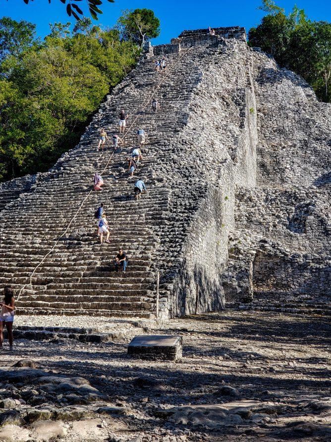 Nohoch Mul Pyramid Coba Mayan Ruins Mexico