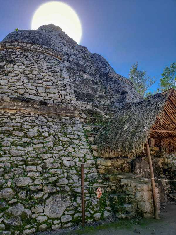 The Observatory at Coba Mayan Ruins Mexico copyright @thetravellingfool.com