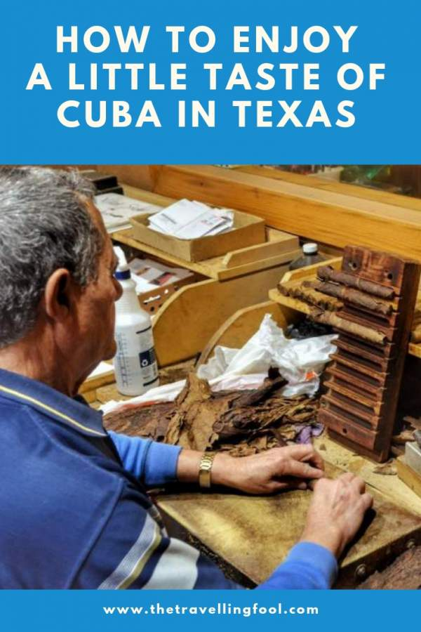 Manny Lopez at El Cubano Cigars has recreated a little taste of Cuba right in Texas