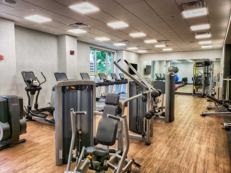 Gym at Dallas Marriott Las Colinas