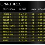 flight cancelled sign