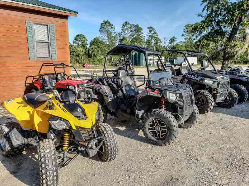 ATV's lined up