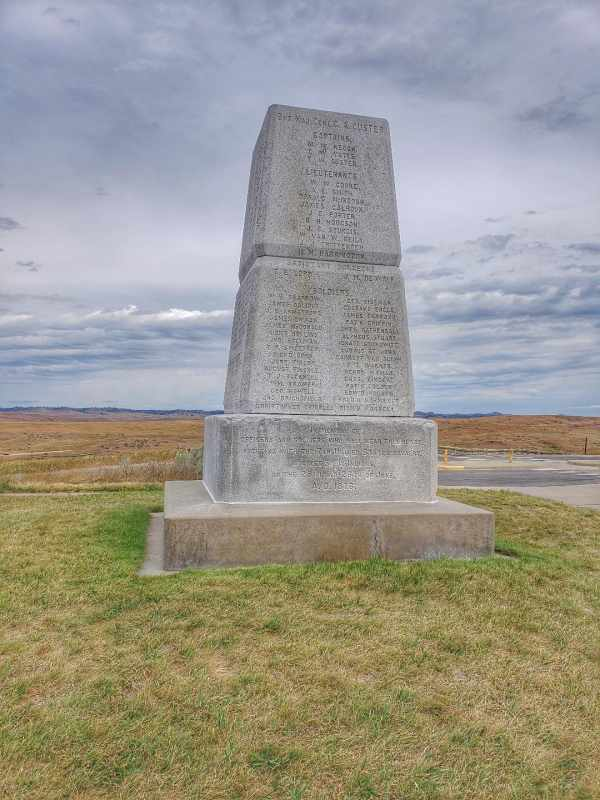 Monument on last stand Hill Little Bighorn Montana