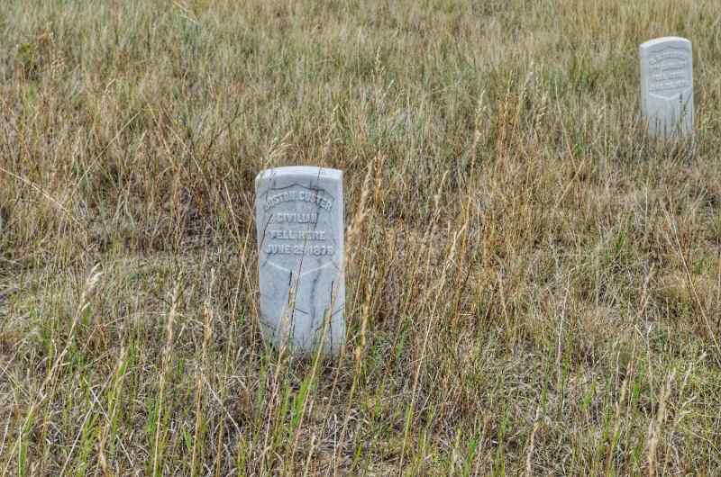 Boston Custer grave marker Little bighorn Montana
