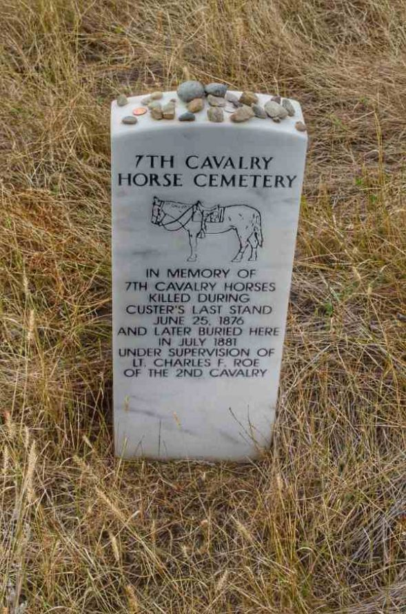 Memorial Marker for Horses of the 7th Cavalry Little Bighorn Montana