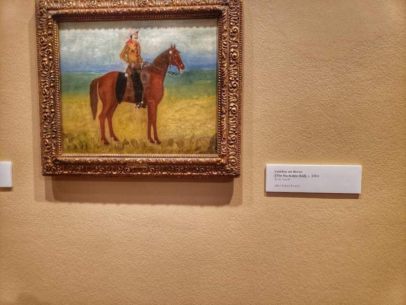 CM Russell painting, Cowboy on horse