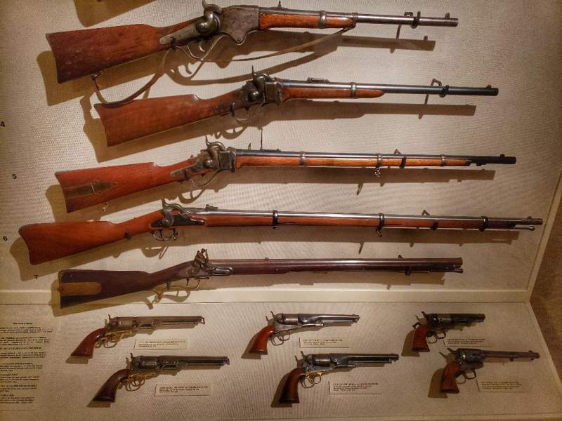 CM Russell Museum firearms exhibit
