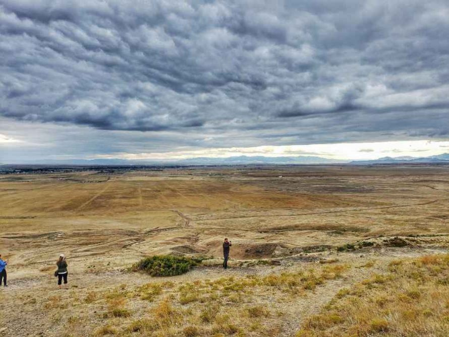 View from the top of First Peoples Buffalo Jump State Park Montana