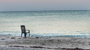 empty chair on beach