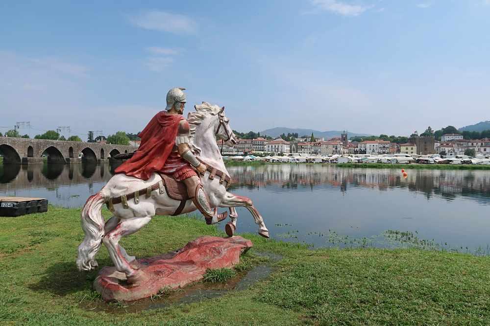 Roman General Statue Ponte De Lima Portugal