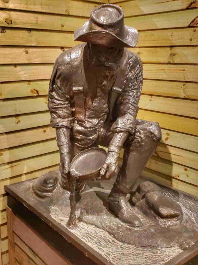 Bronze Statue Gold Miner