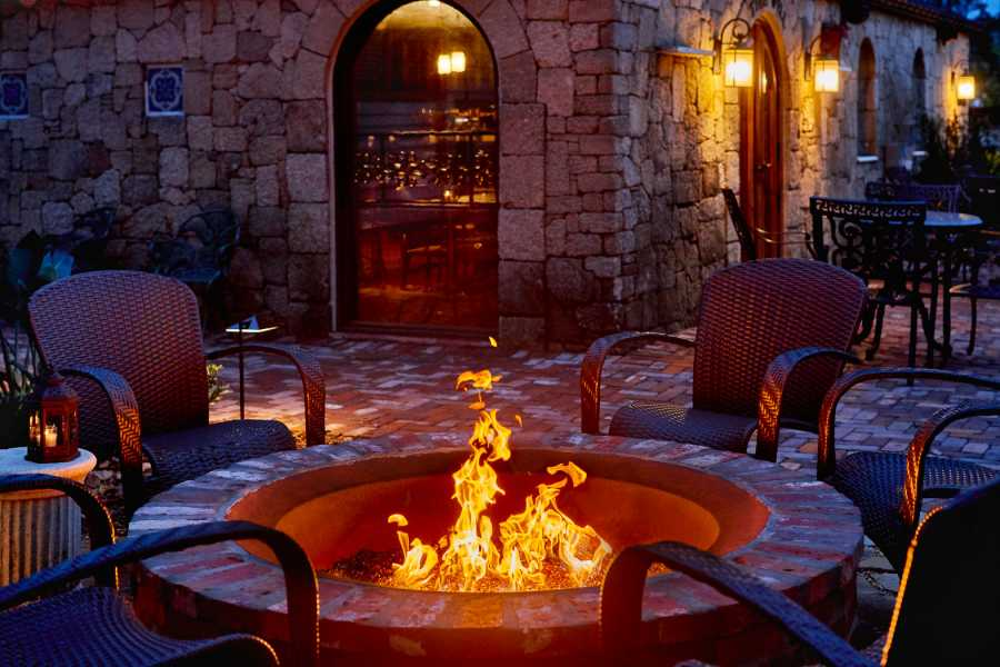 The Collector Inn Fire pit St Augustine Fl