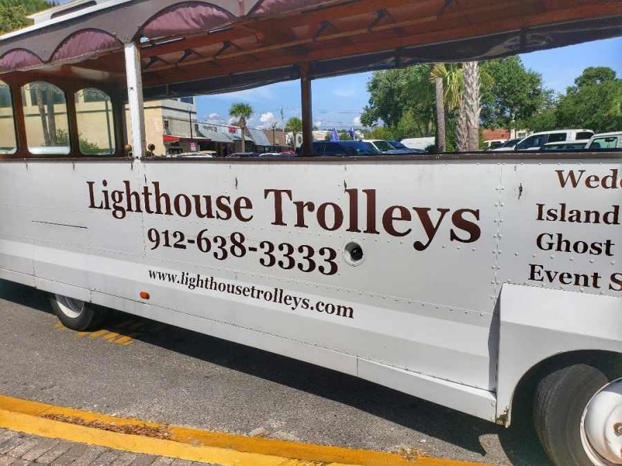 Lighthouse trolleys st Simons Ga