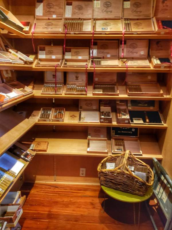 Isabela's Bar Cuba walk in humidor